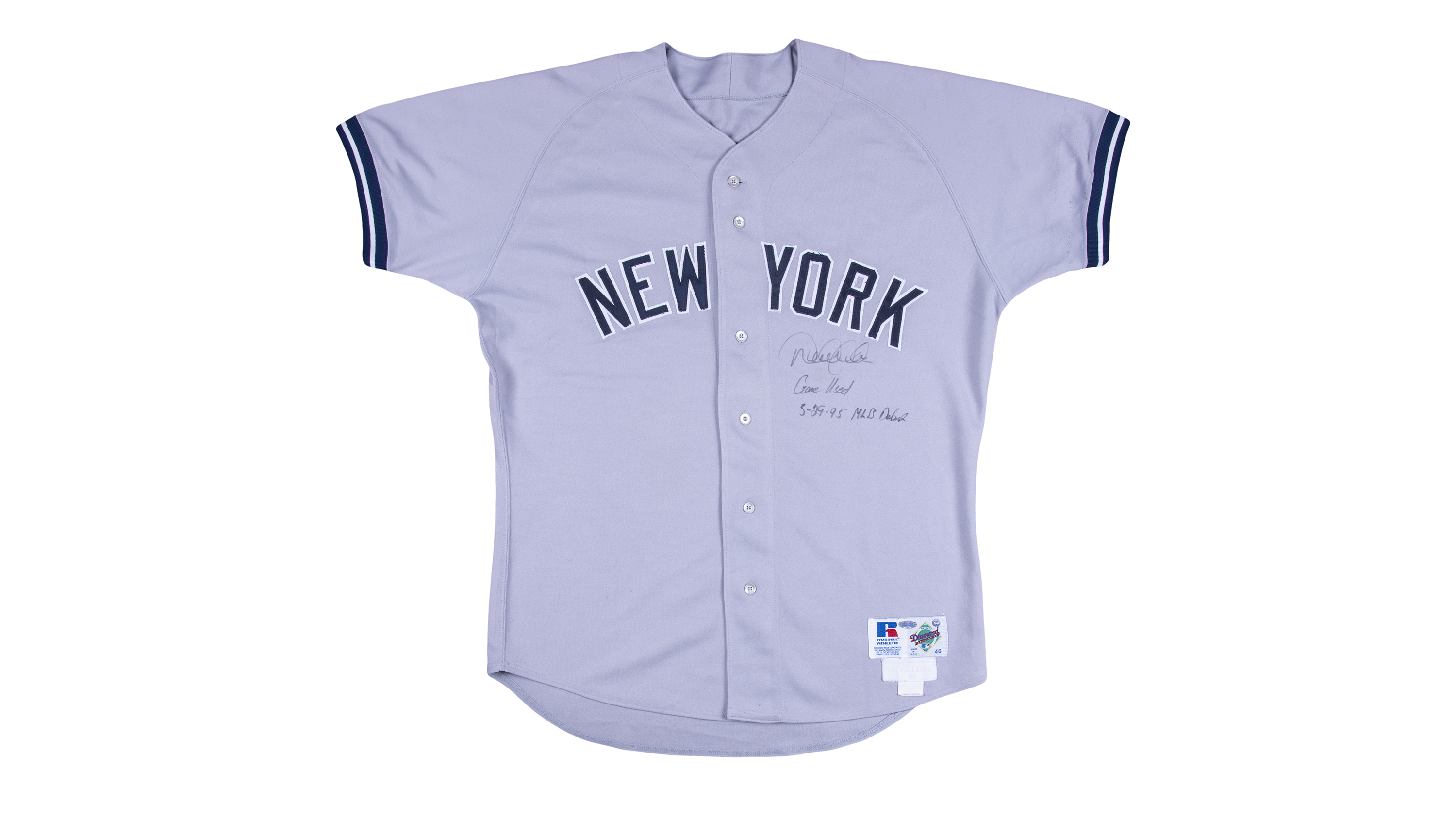 Derek Jeter's first Yankees jersey sold for $369,000, the most ever for a modern-era jersey