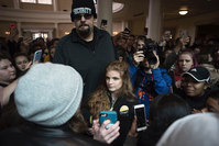 Guns rights activist Kaitlin Bennett swarmed by student protesters during surprise Ohio University visit