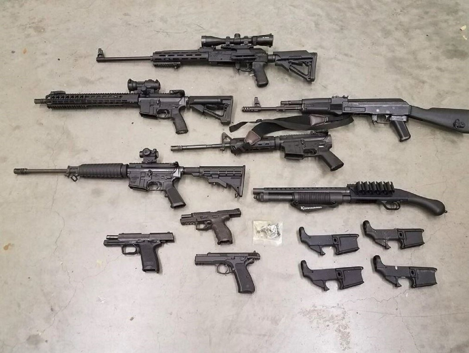 Weapons seized from alleged neo-Nazi leader in Washington state