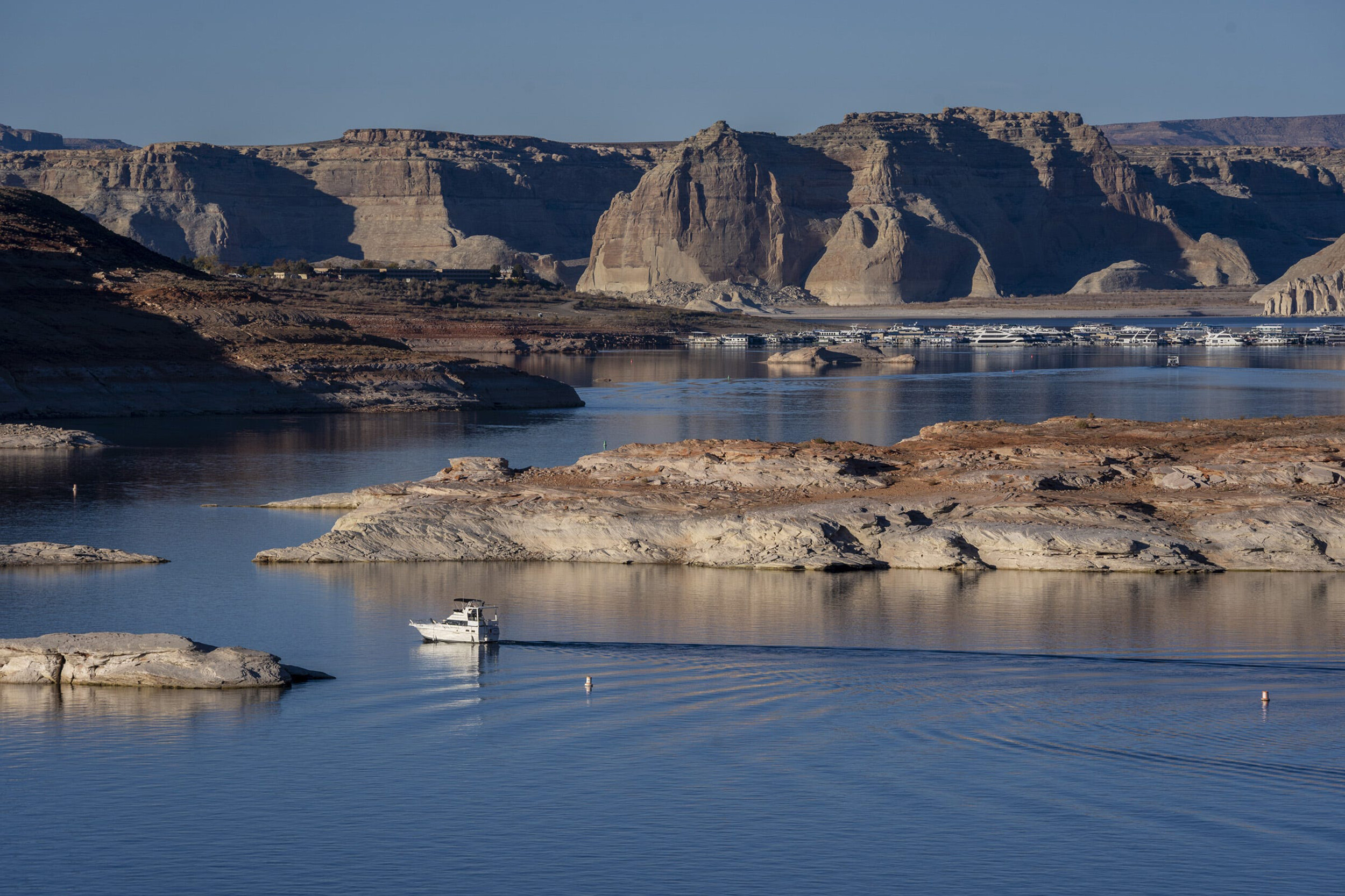 Lake Powell hits lowest level on record in climate change-fueled water crisis