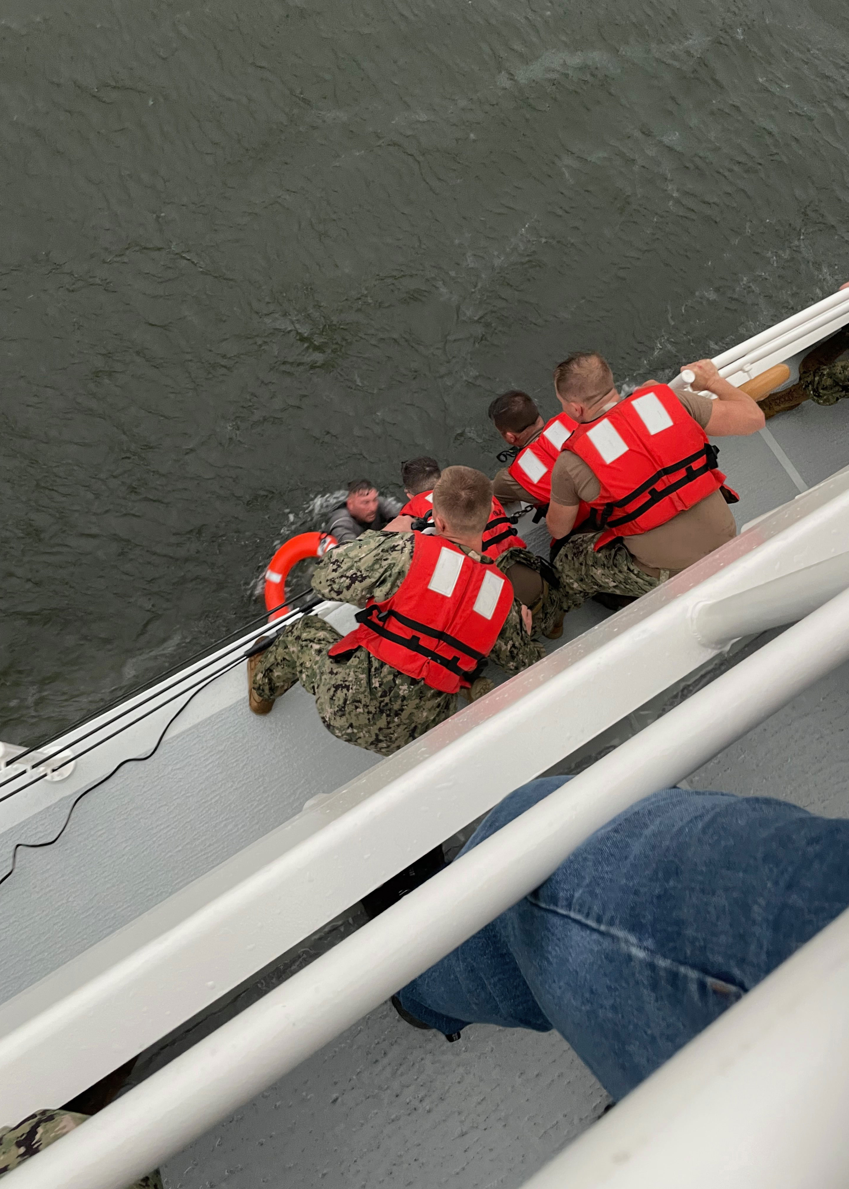 Search operations continue overnight for the 12 people still missing from capsized ship off Louisiana coast