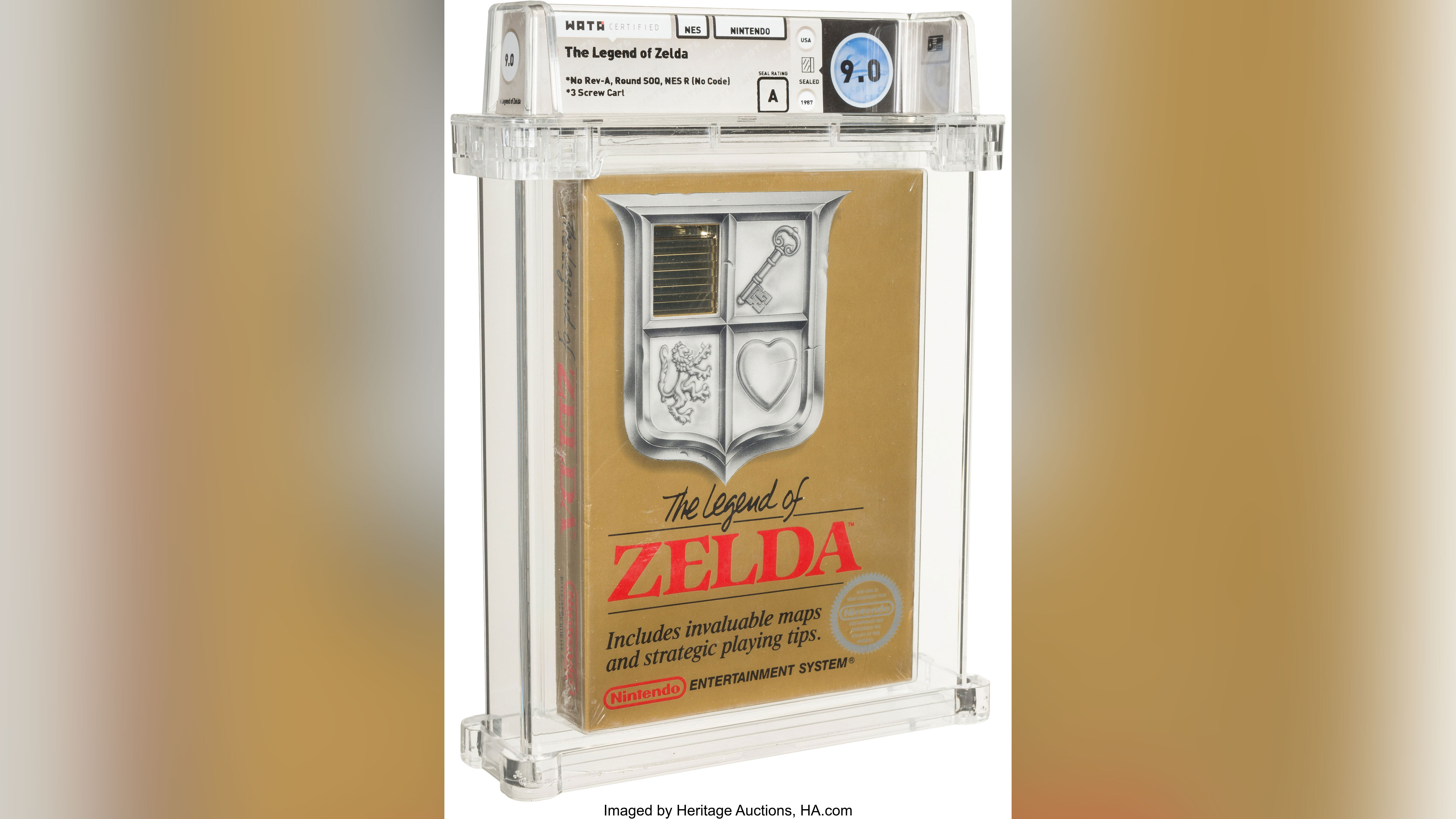 'Legend of Zelda' sells for $870,000 at auction, a record for a video game