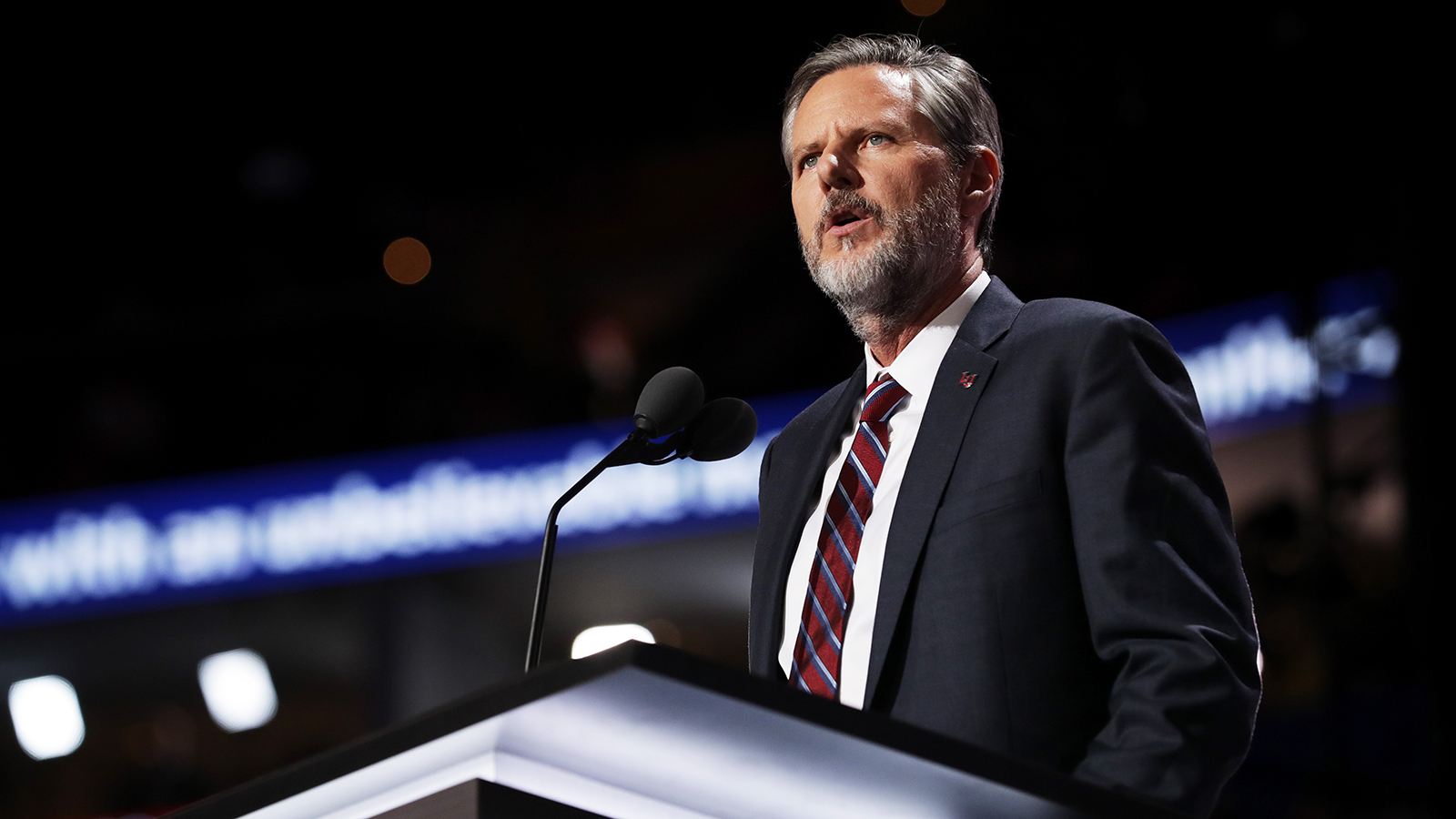 Liberty University has announced an interim president after Jerry Falwell's leave of absence