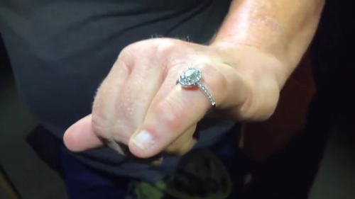Image for Woman is reunited with her engagement ring thanks to a group of treasure hunters