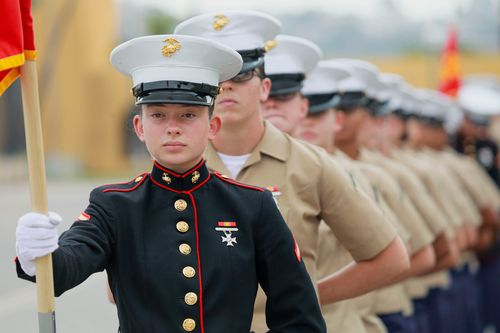 Image for A platoon of female Marines made history by graduating from this San Diego boot camp