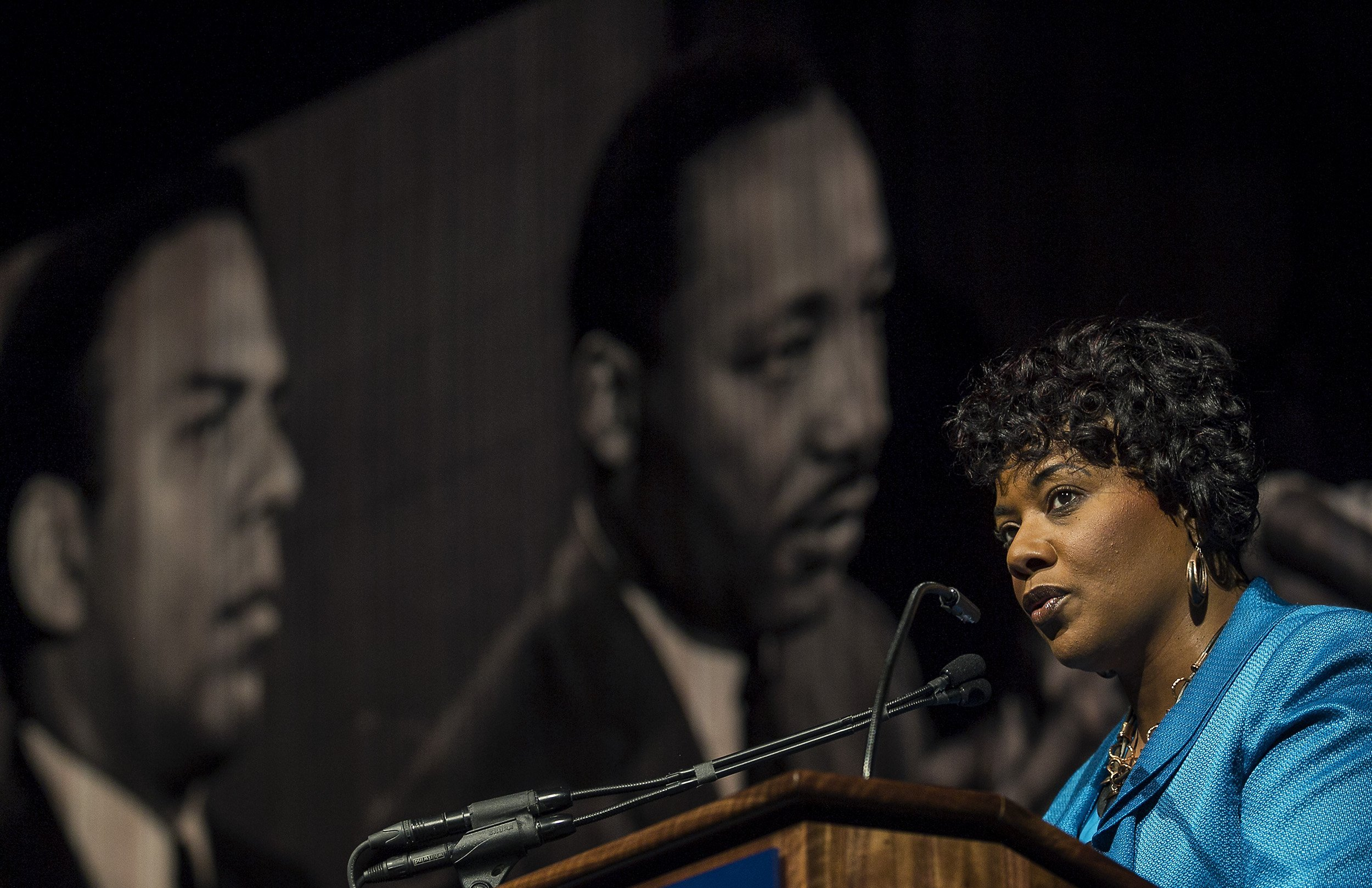 MLK's daughter weighs in on her father's dream in a polarized America