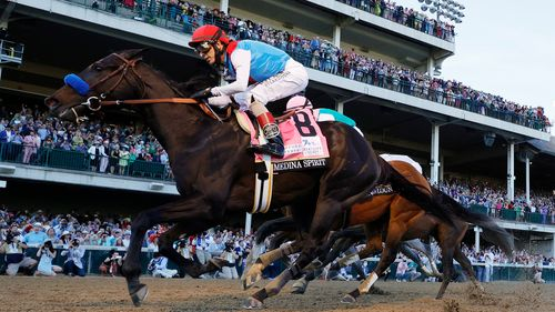 Image for Medina Spirit's Kentucky Derby Win in Doubt after Failing Postrace Drug Test