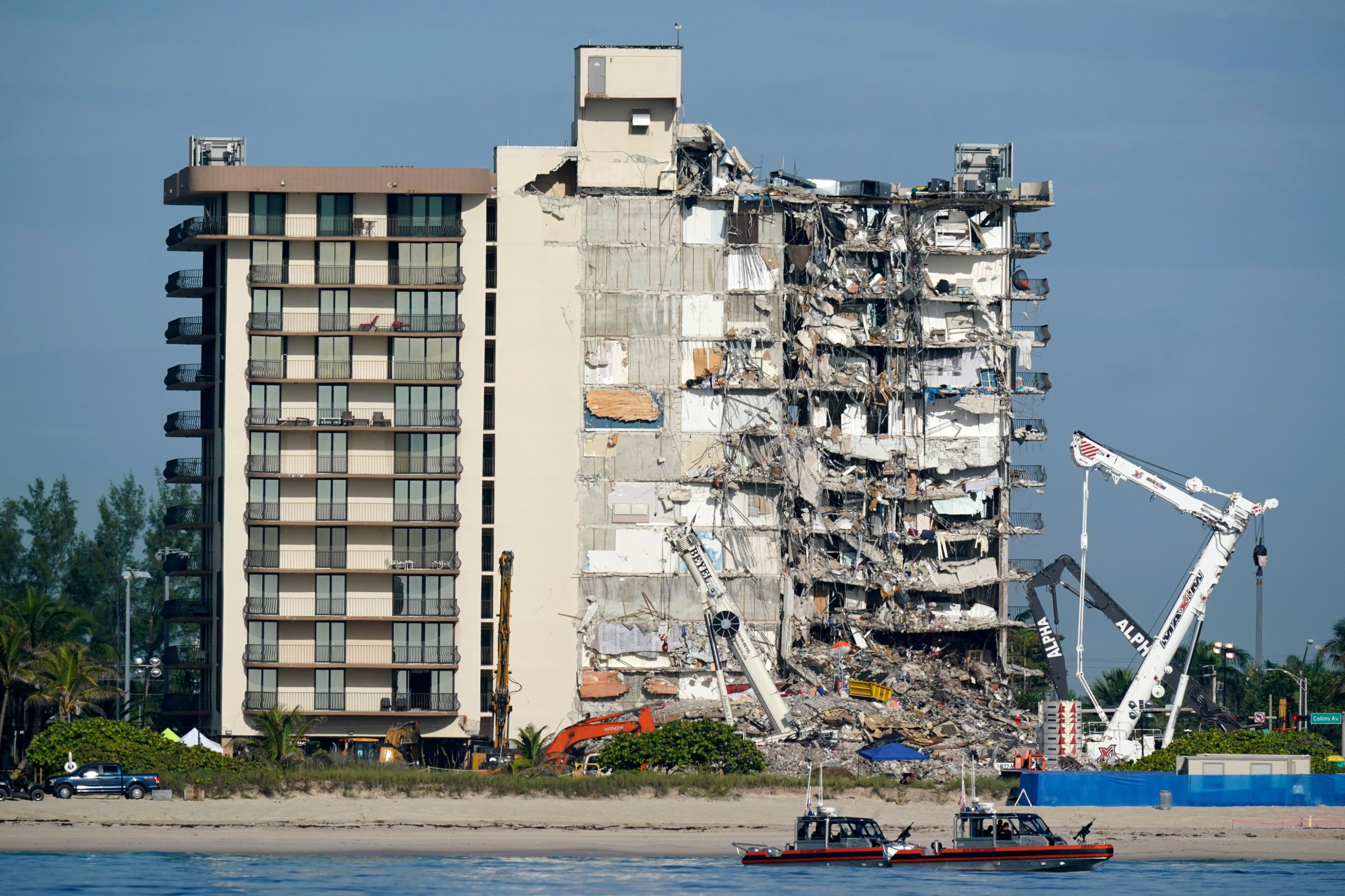 A woman's voice was heard from the rubble during the initial rescue efforts at the Surfside condo collapse