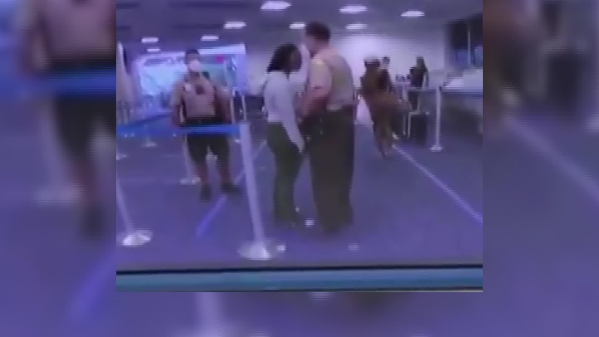A Miami-Dade officer who struck a woman at an airport will be terminated, officials say