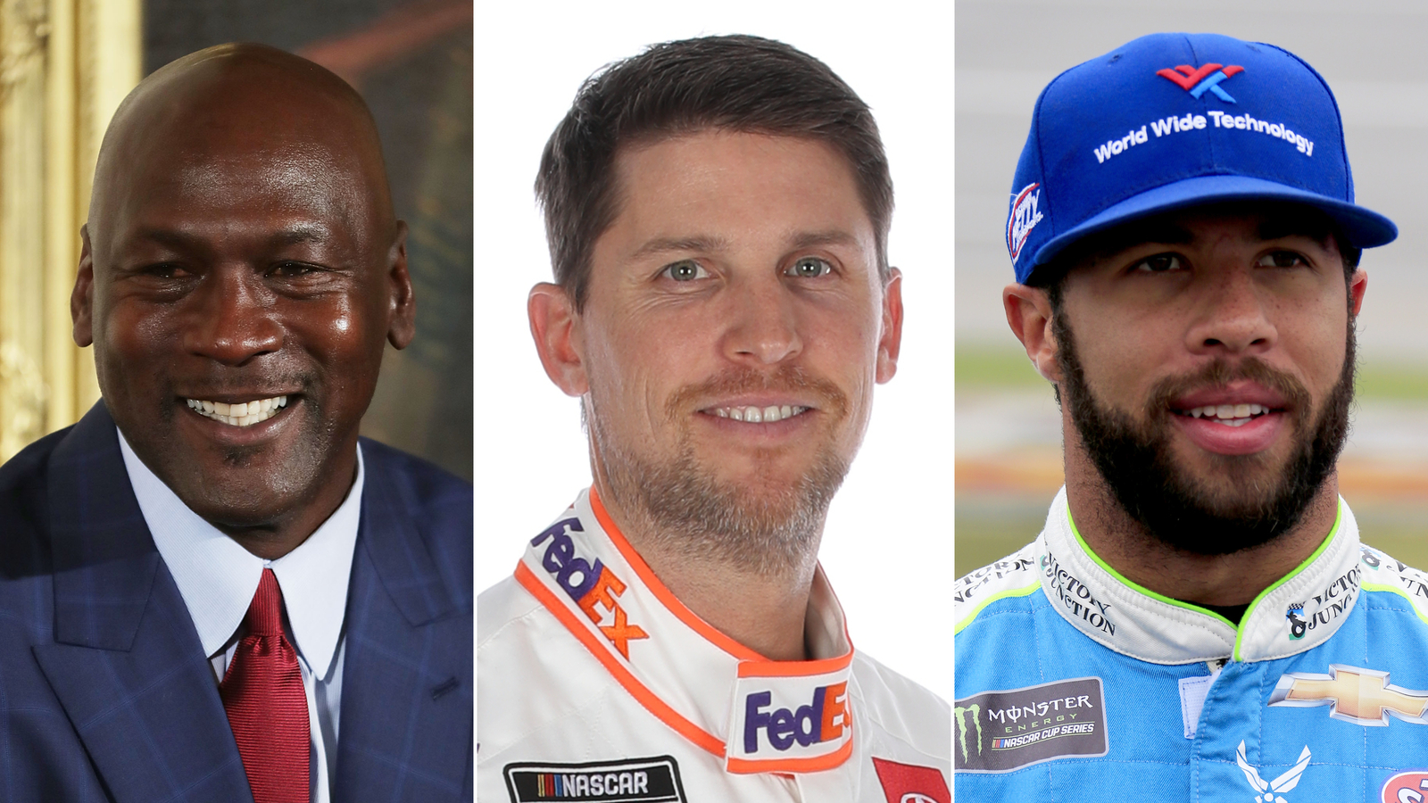 Michael Jordan and Denny Hamlin team up to start NASCAR team, with Bubba Wallace as a driver