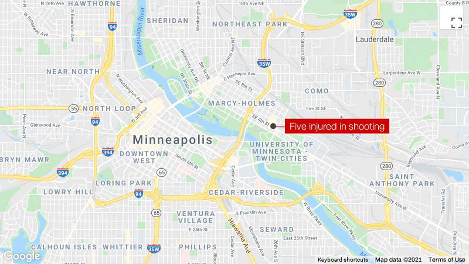 Minneapolis shooting leaves 5 people wounded