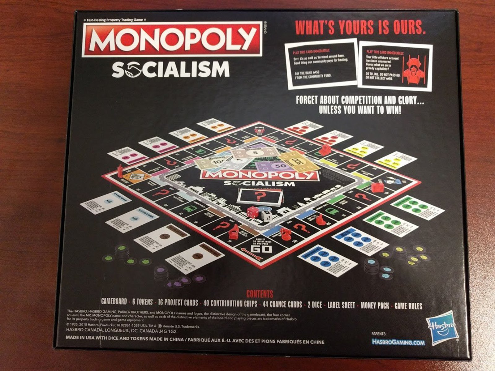 Yes, there's a socialism-themed Monopoly game. It packs a message tailored for capitalists