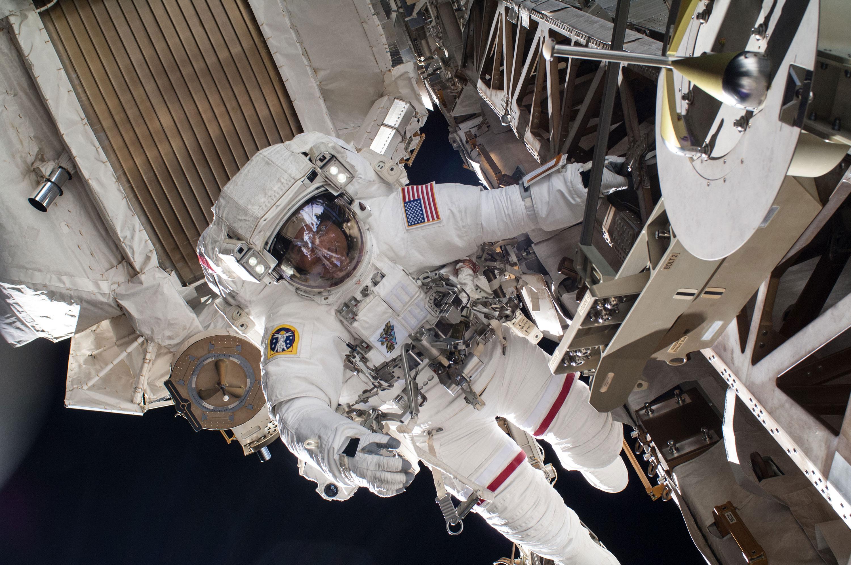 NASA astronauts conduct their third spacewalk in 3 weeks
