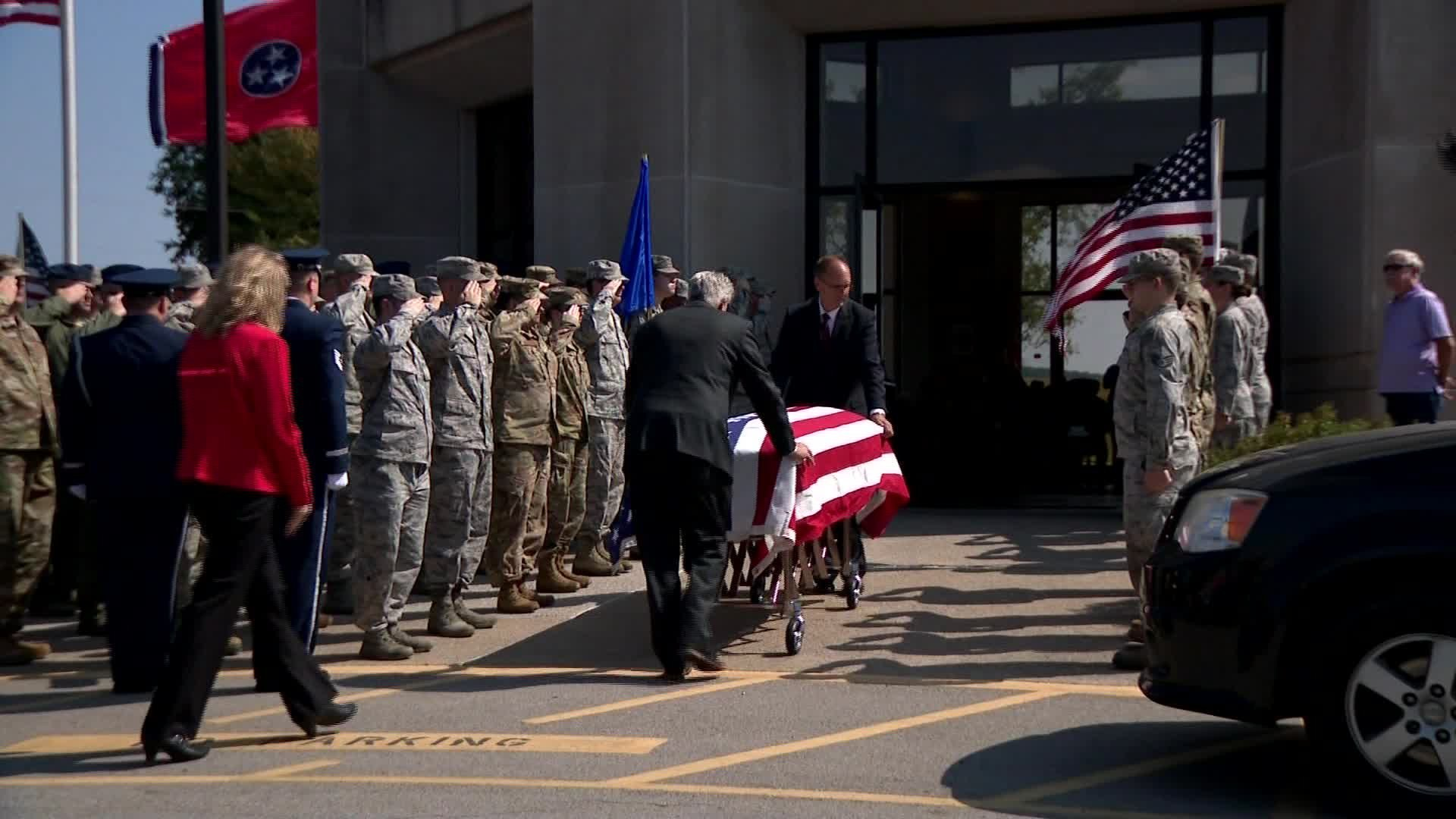 He served in the United States Air Force and strangers packed his funeral to give him the recognition he deserved