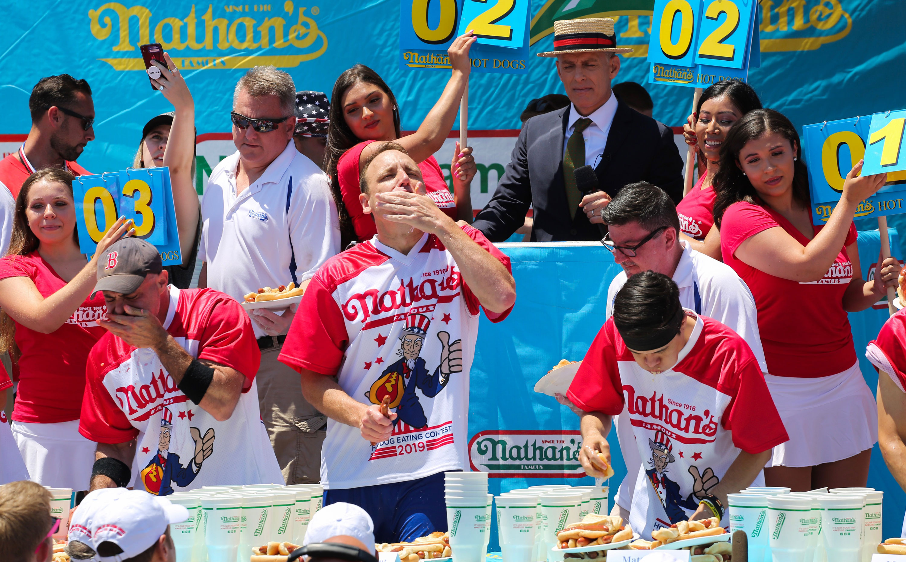 Hey, sports fans: Joey Chestnut and Miki Sudo crush the hot dog contest — again