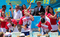 Hey, sports fans: Joey Chestnut and Miki Sudo crush the hot dog contest -- again