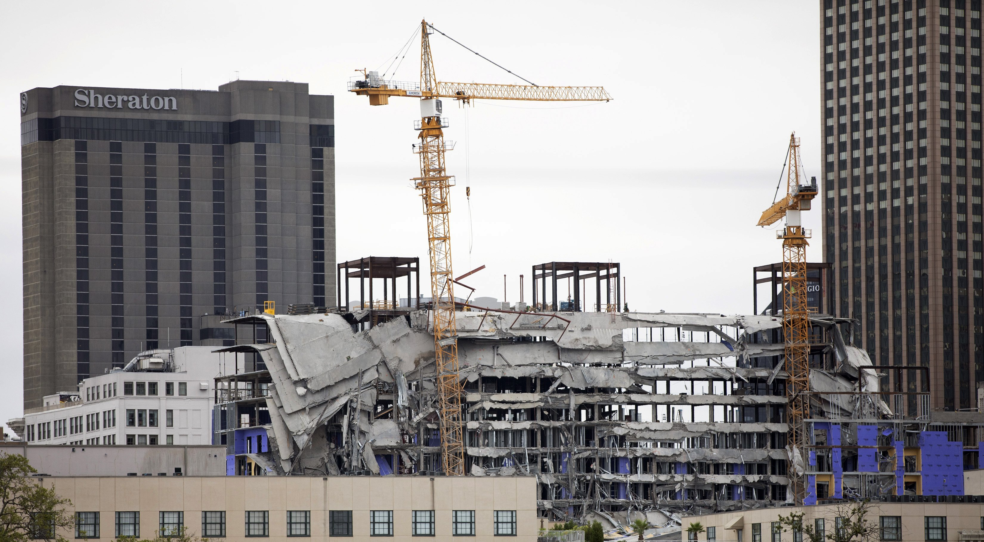 New Orleans officials are about to blow up the cranes at the collapsed Hard Rock hotel. Here's why