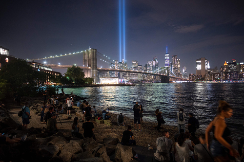 Image for New York City's 'Tribute in Light' honoring 9/11 victims has been canceled this year over Covid-19 concerns