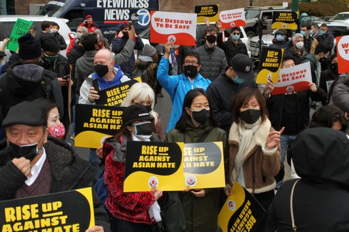 Image for New Yorkers rally against wave of anti-Asian hate