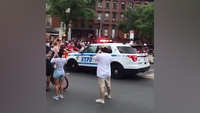 Video appears to show NYPD truck plowing through crowd during protest