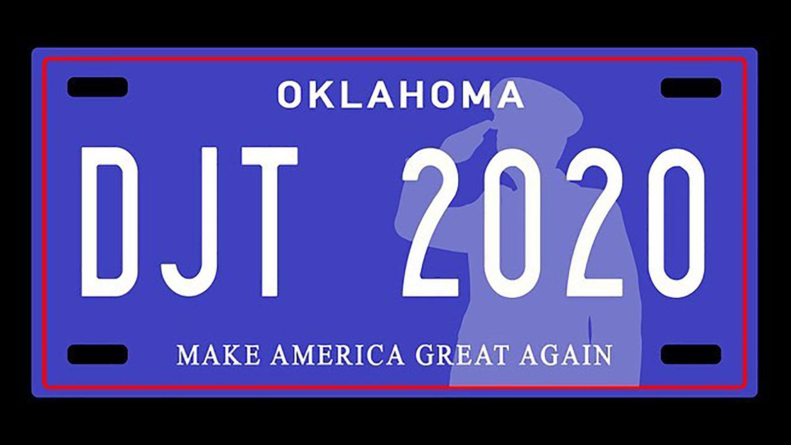 Oklahoma senators filed a bill to create 'Make America Great Again' license plates