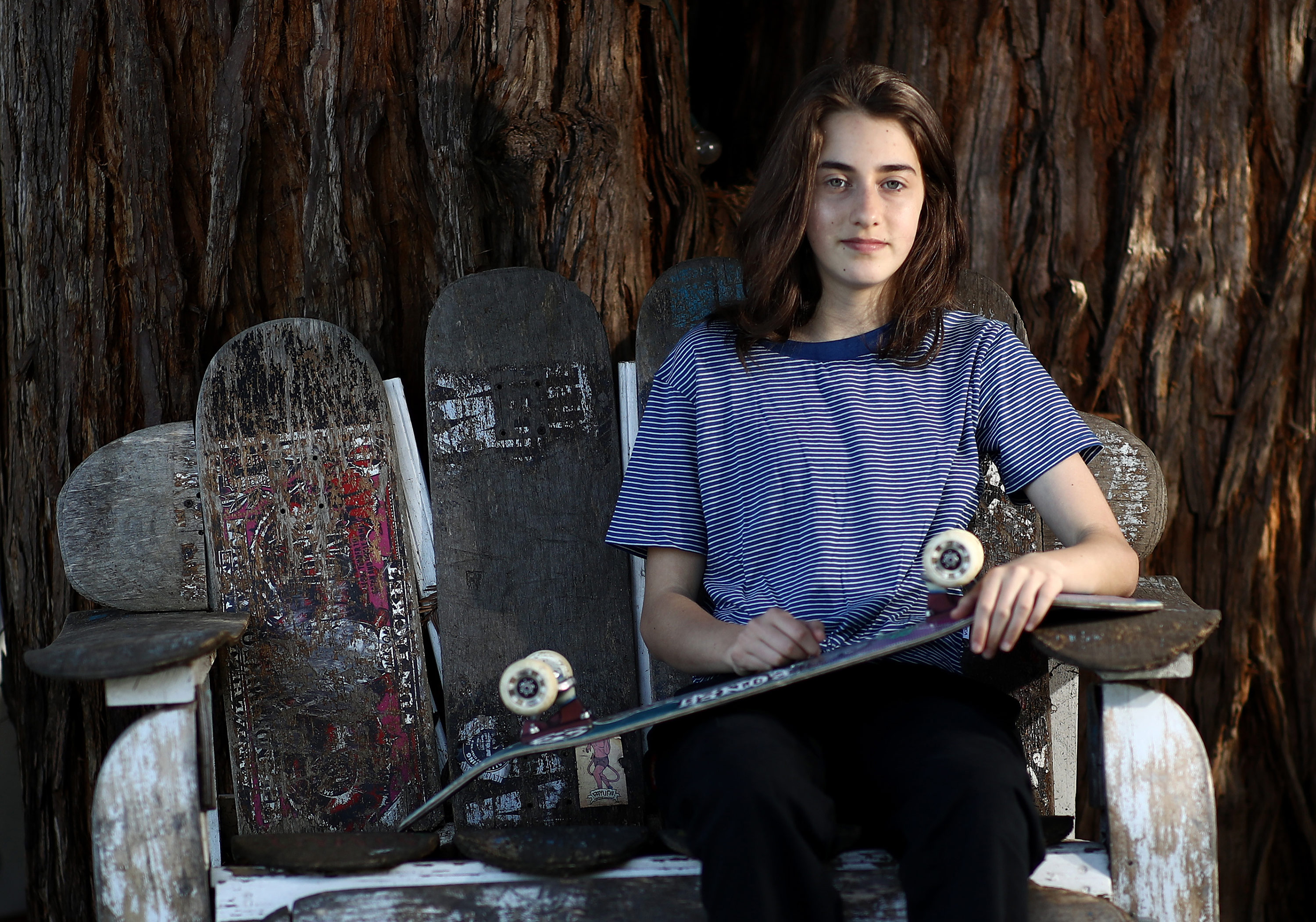Minna Stess: 14-year-old skateboarding prodigy chases Olympic dream