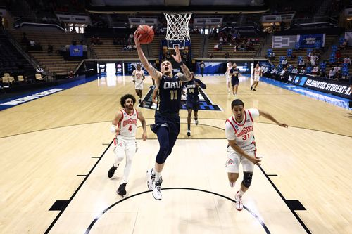 Image for No. 15 Seed Oral Roberts Pulls off the First Shocker of March Madness