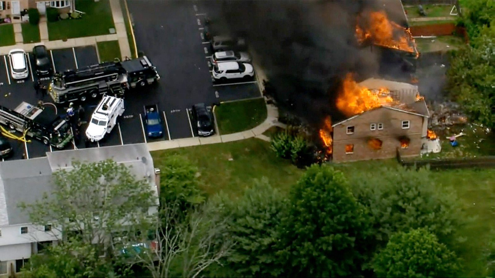 Several Philadelphia-area homes were severely damaged after an explosion inside of a residence, police say