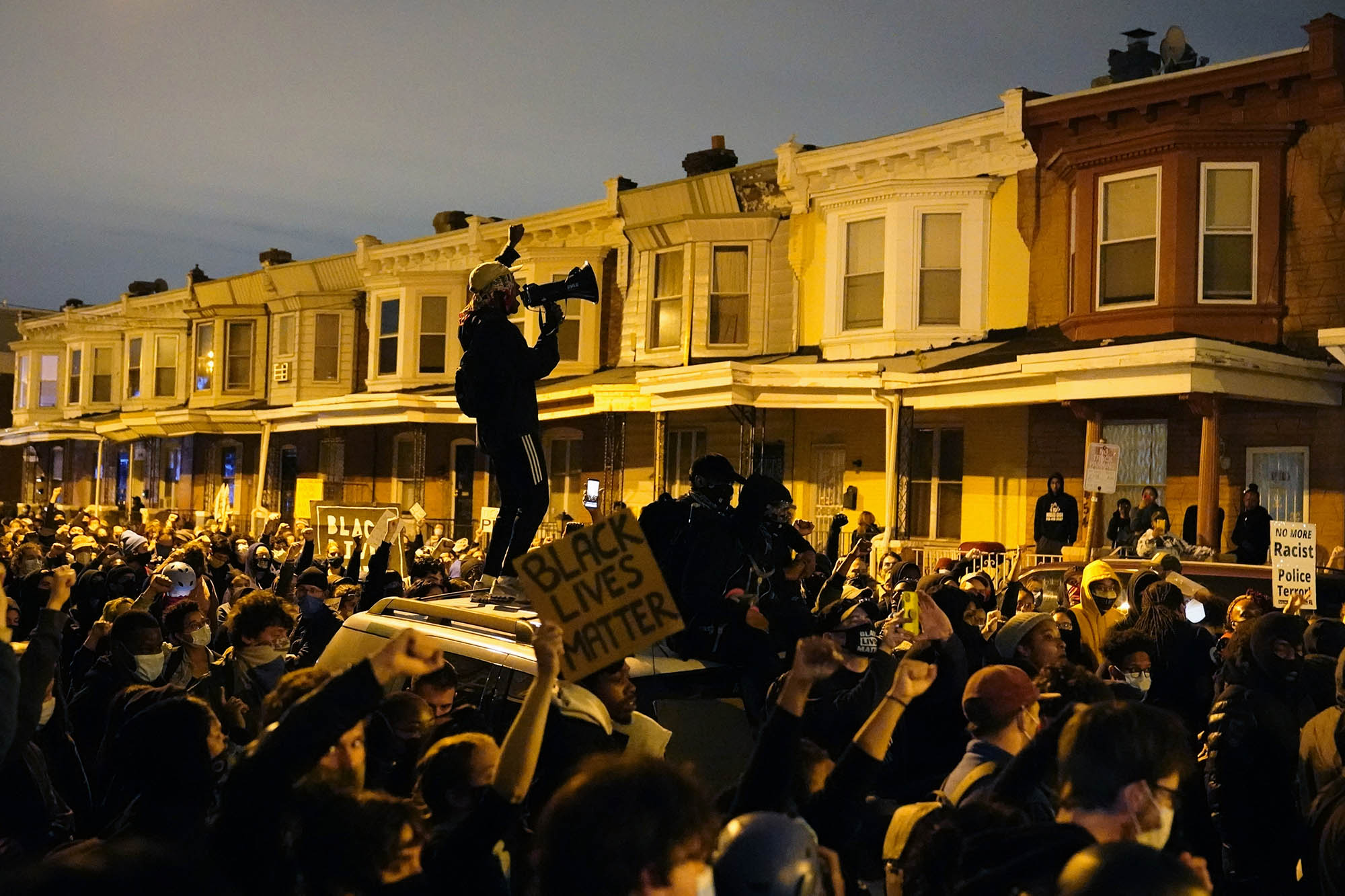 Philadelphia police ask residents to stay indoors as spurts of violence erupt during protests over the fatal police shooting of Walter Wallace Jr.