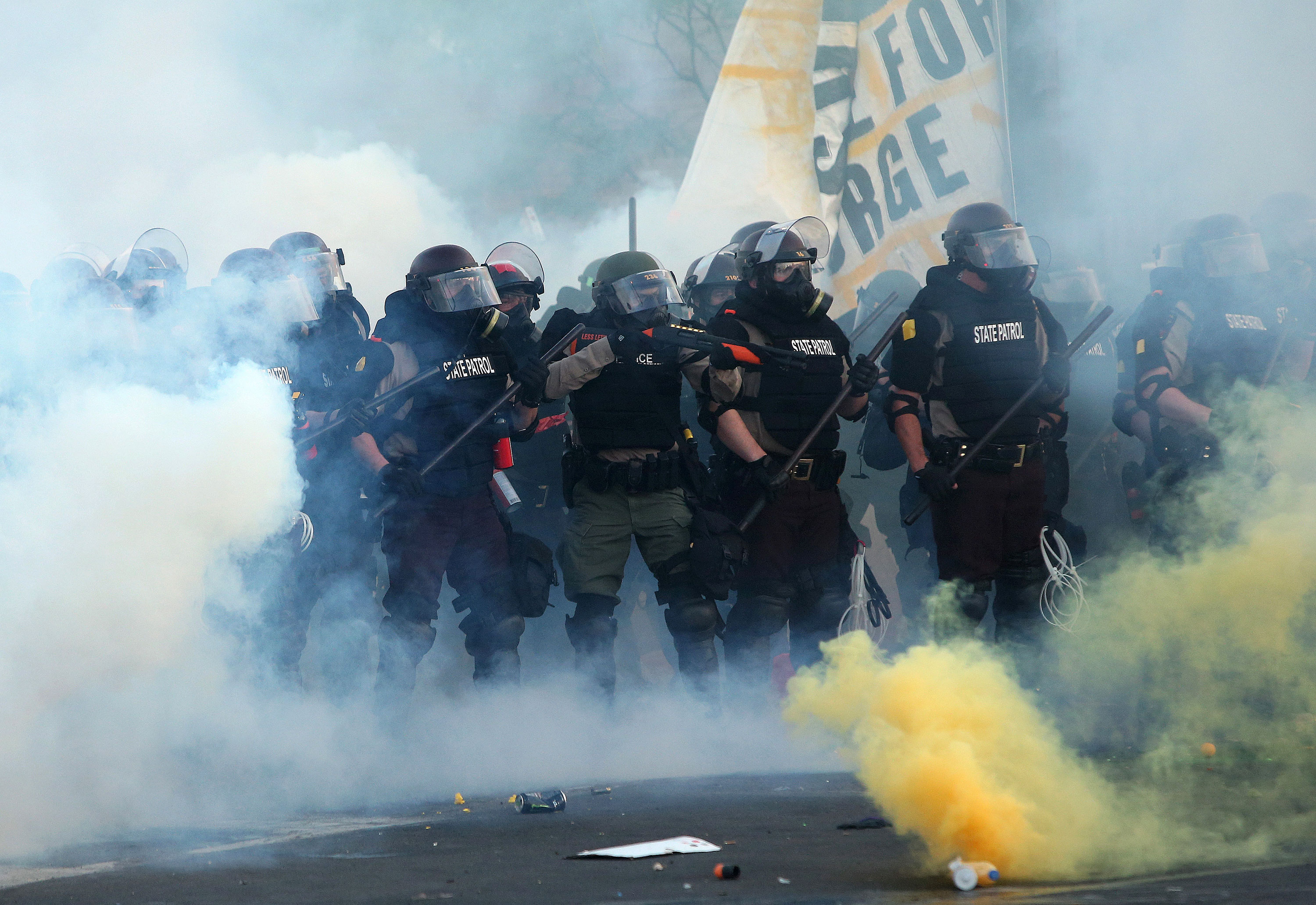 Police brutality prompted the protests. In some cities, the police response only proved the protesters' point