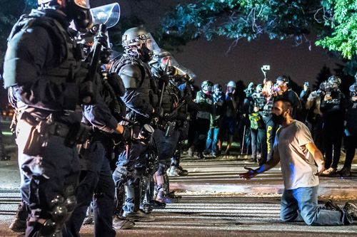 Image for Portland Police arrest over 50 people on 100th consecutive night of demonstrations