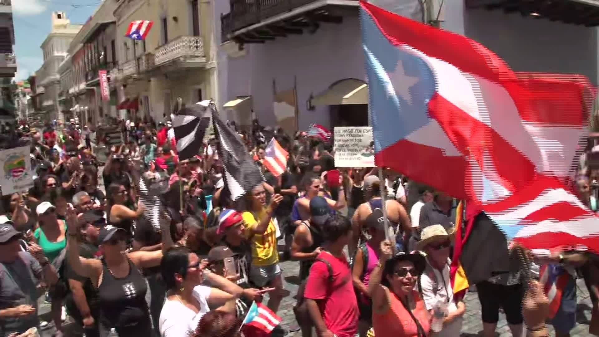 Puerto Rico protests: Demonstrations resume Saturday outside Gov. Rosselló's official residence