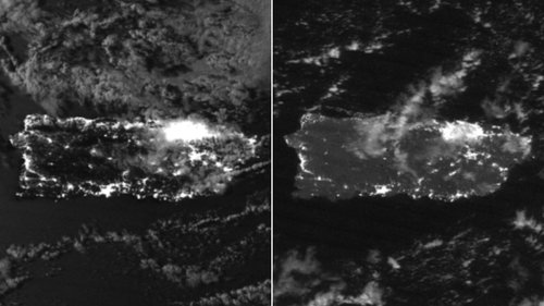 Puerto Rico Power Outage Map Satellite images show how dark Puerto Rico is at night after