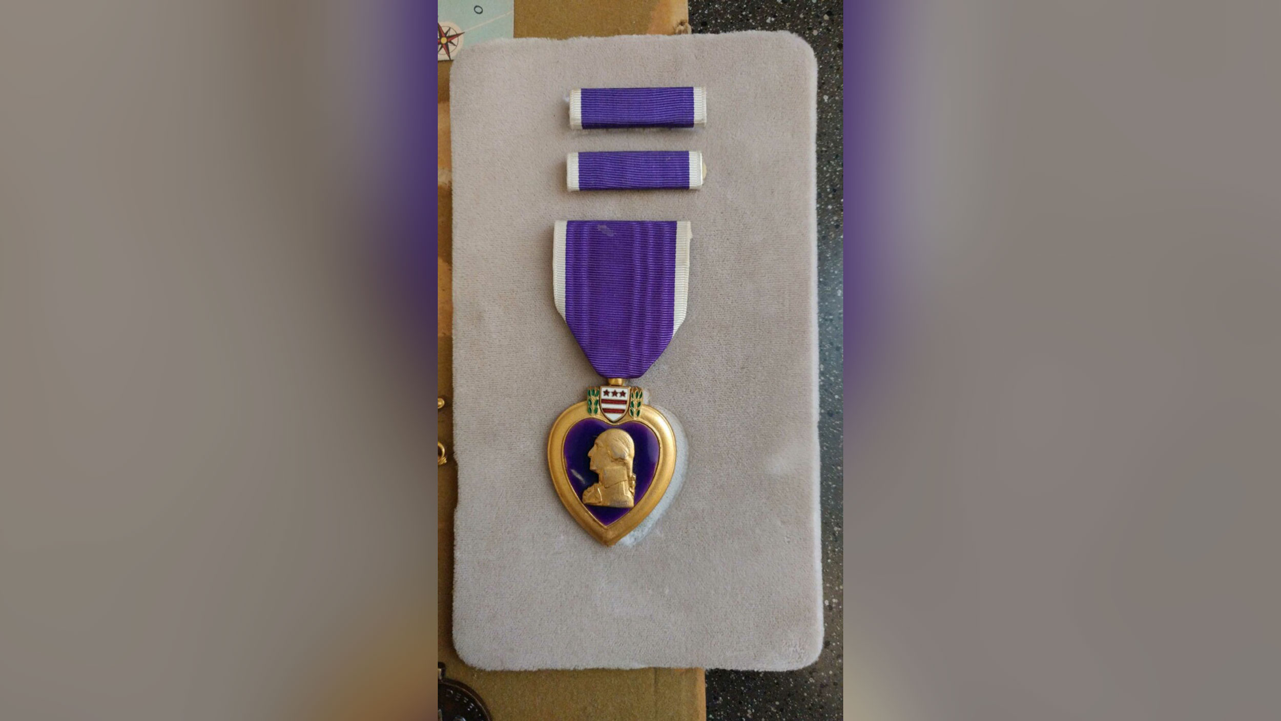 Purple Heart left at thrift store is returned to the family of a deceased veteran