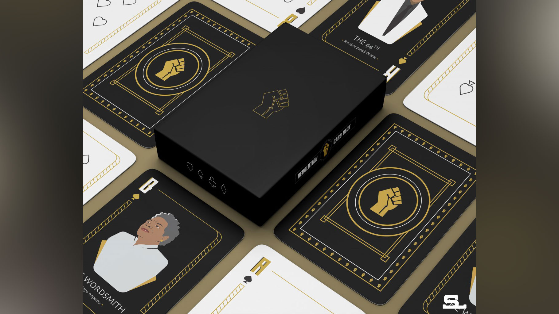 An artist honors icons by creating Black History Month-themed playing cards