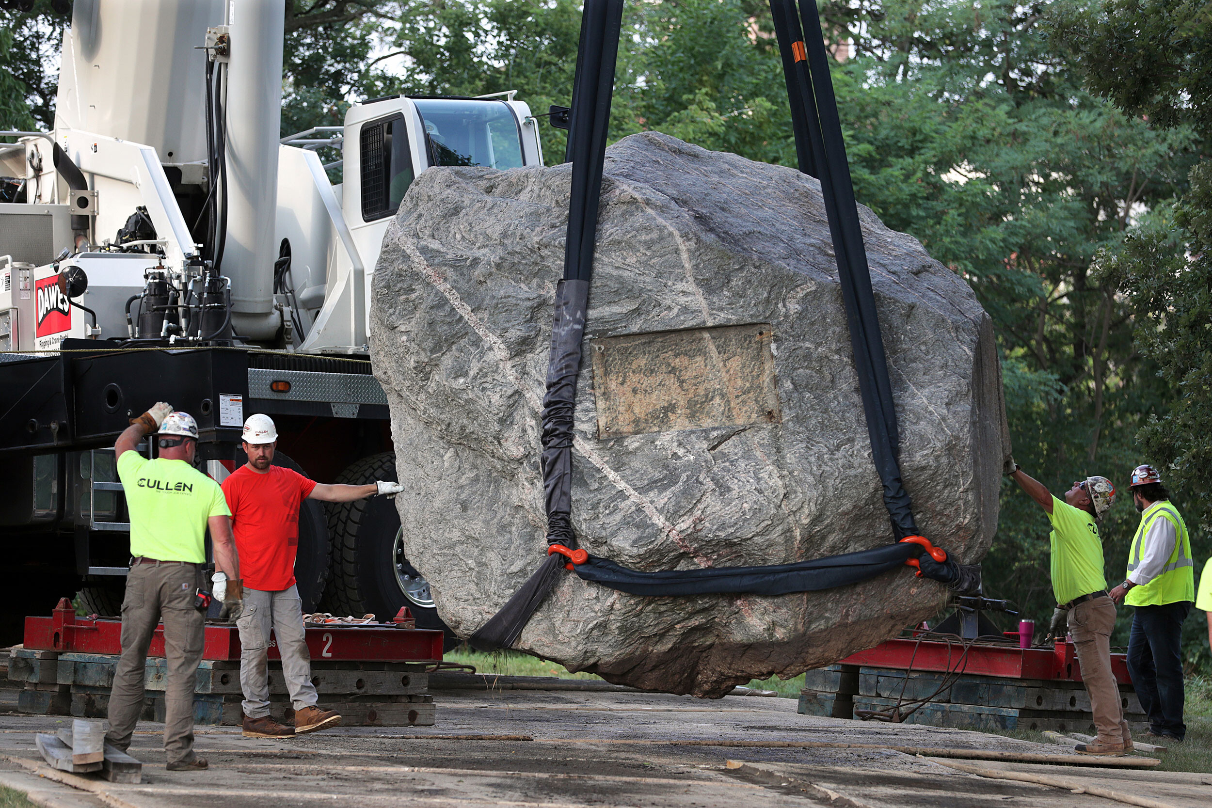 A rock that students call a symbol of racism has been removed from University of Wisconsin