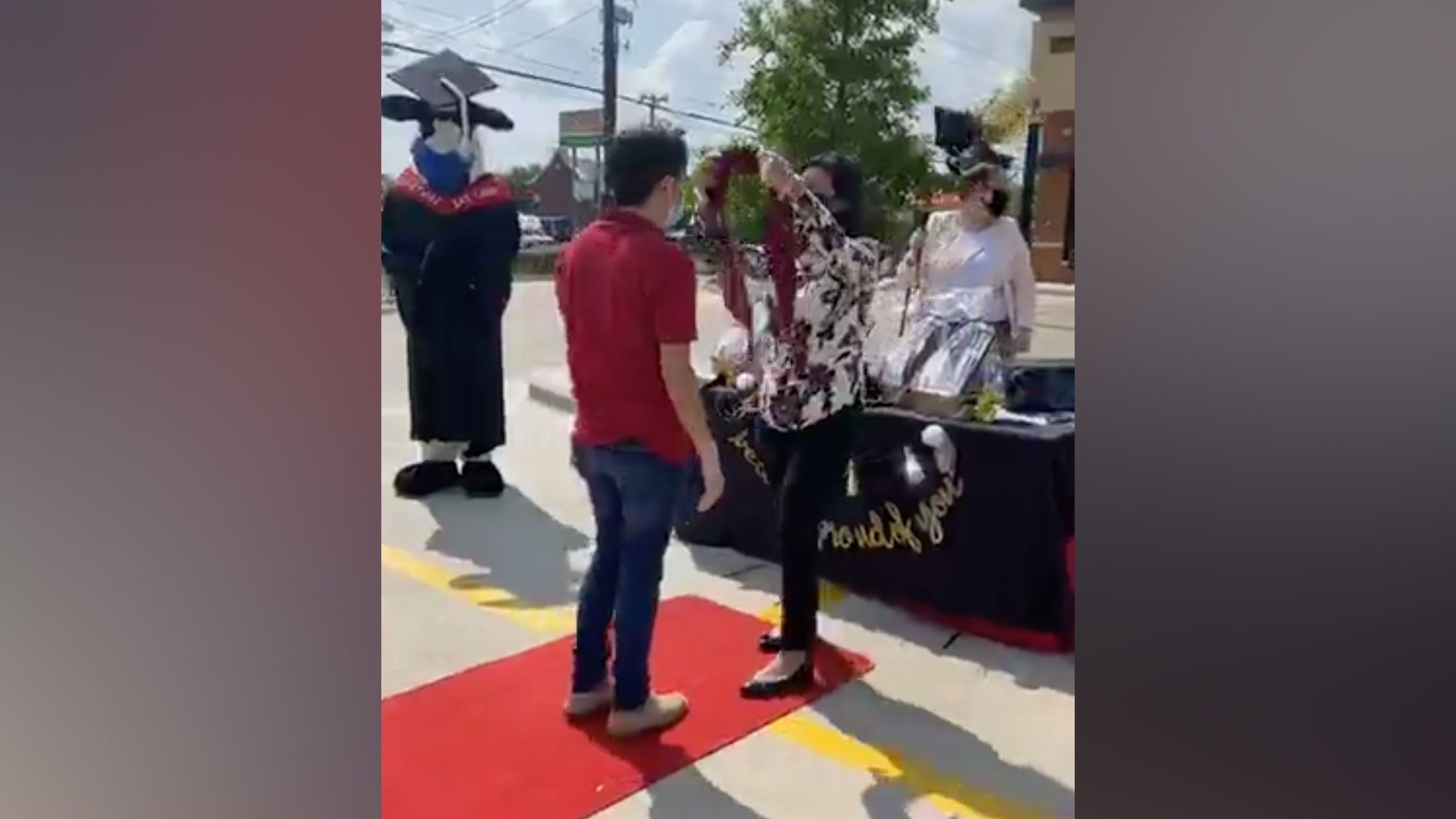 This Chick-fil-A in San Antonio hosted its own high school graduation for employees