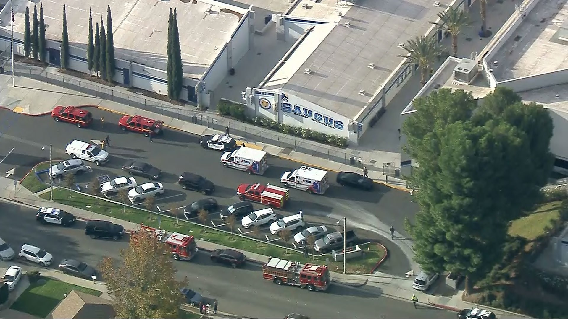 2 dead, several wounded in a shooting at Saugus High School in Santa Clarita. A suspect is in custody