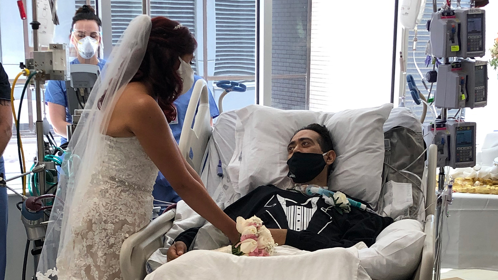 Nurses in a San Antonio hospital organize a patient's wedding to help lift his spirits