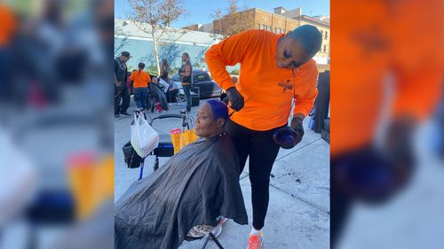 Image for This woman is beautifying Skid Row one makeover at a time. And not even the pandemic can stop her from helping the homeless