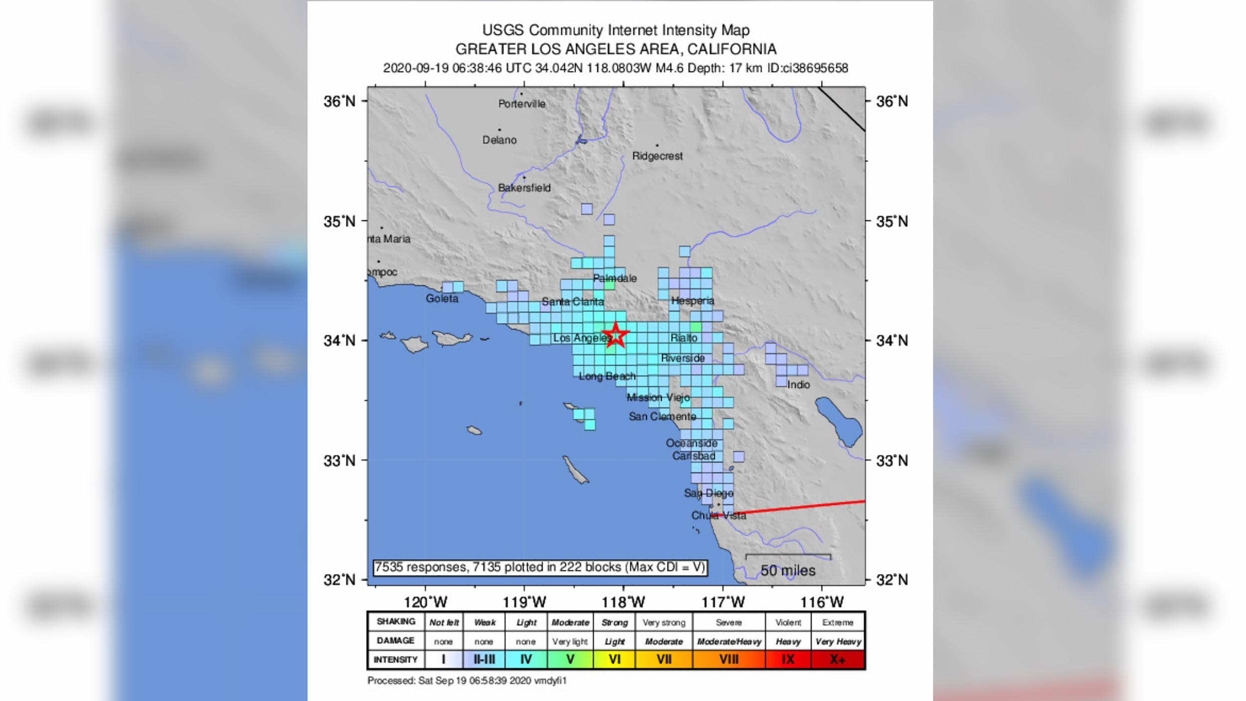 A 4.5-magnitude earthquake jolts Southern California