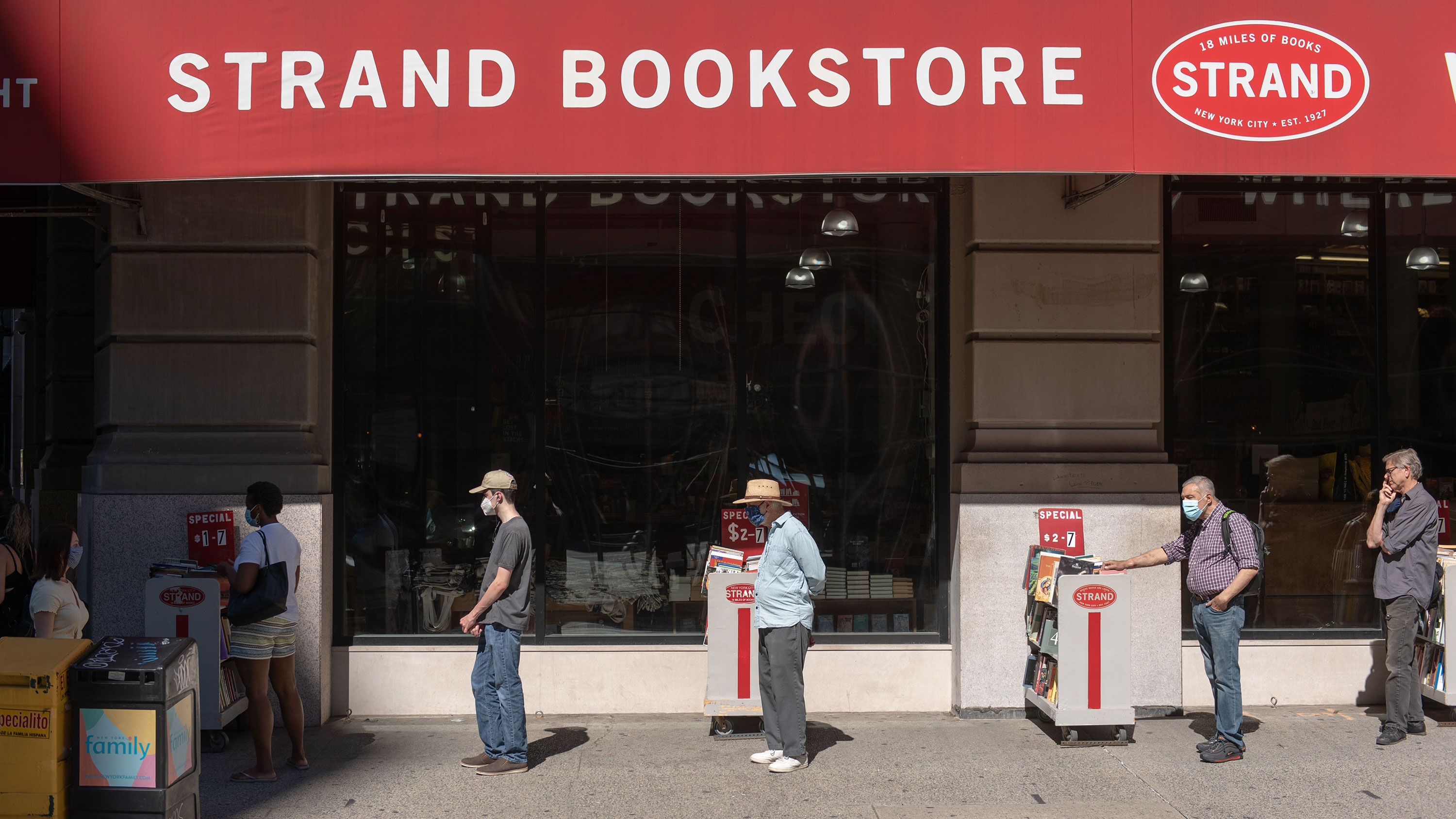 New York's famous Strand bookstore says it could become a Covid casualty