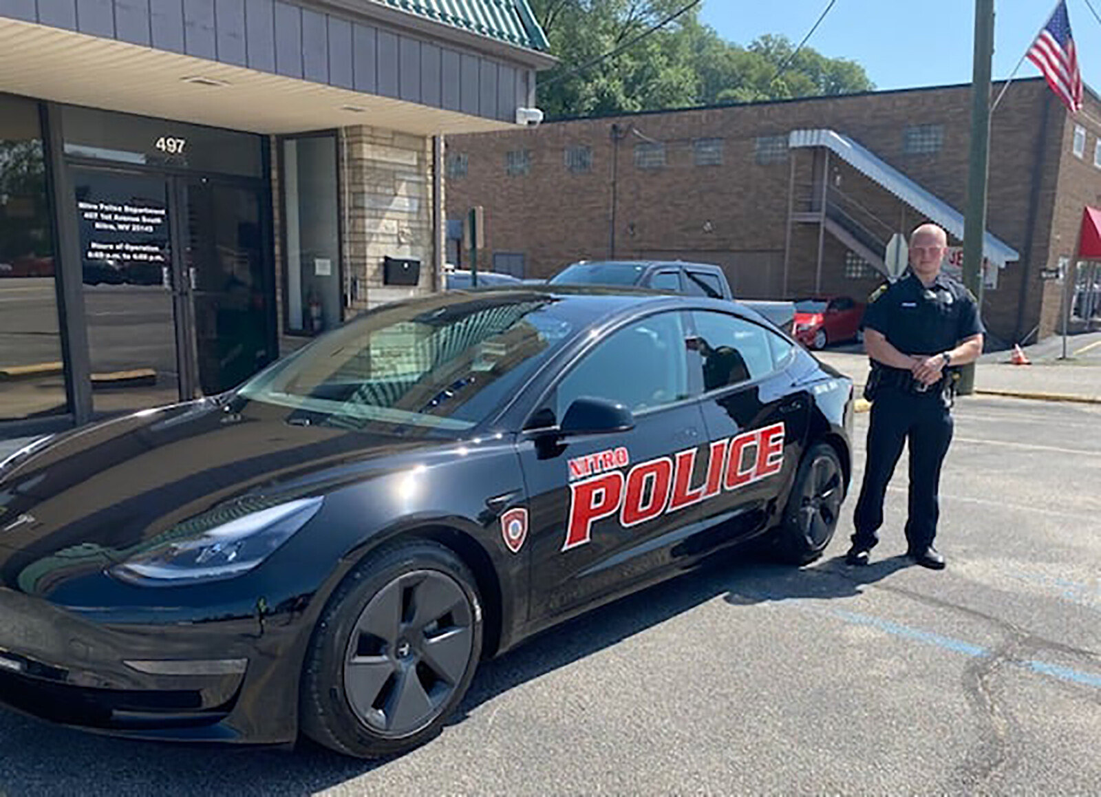 A West Virginia city is taking a Tesla patrol car for a test drive