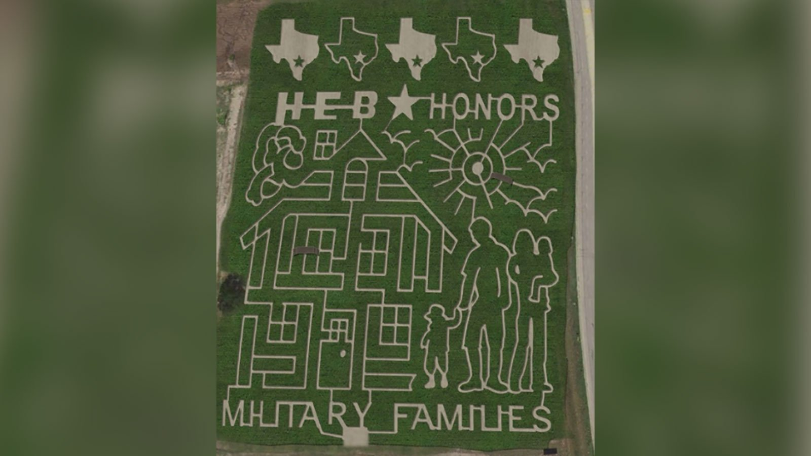 This giant Texas corn maze honors military families
