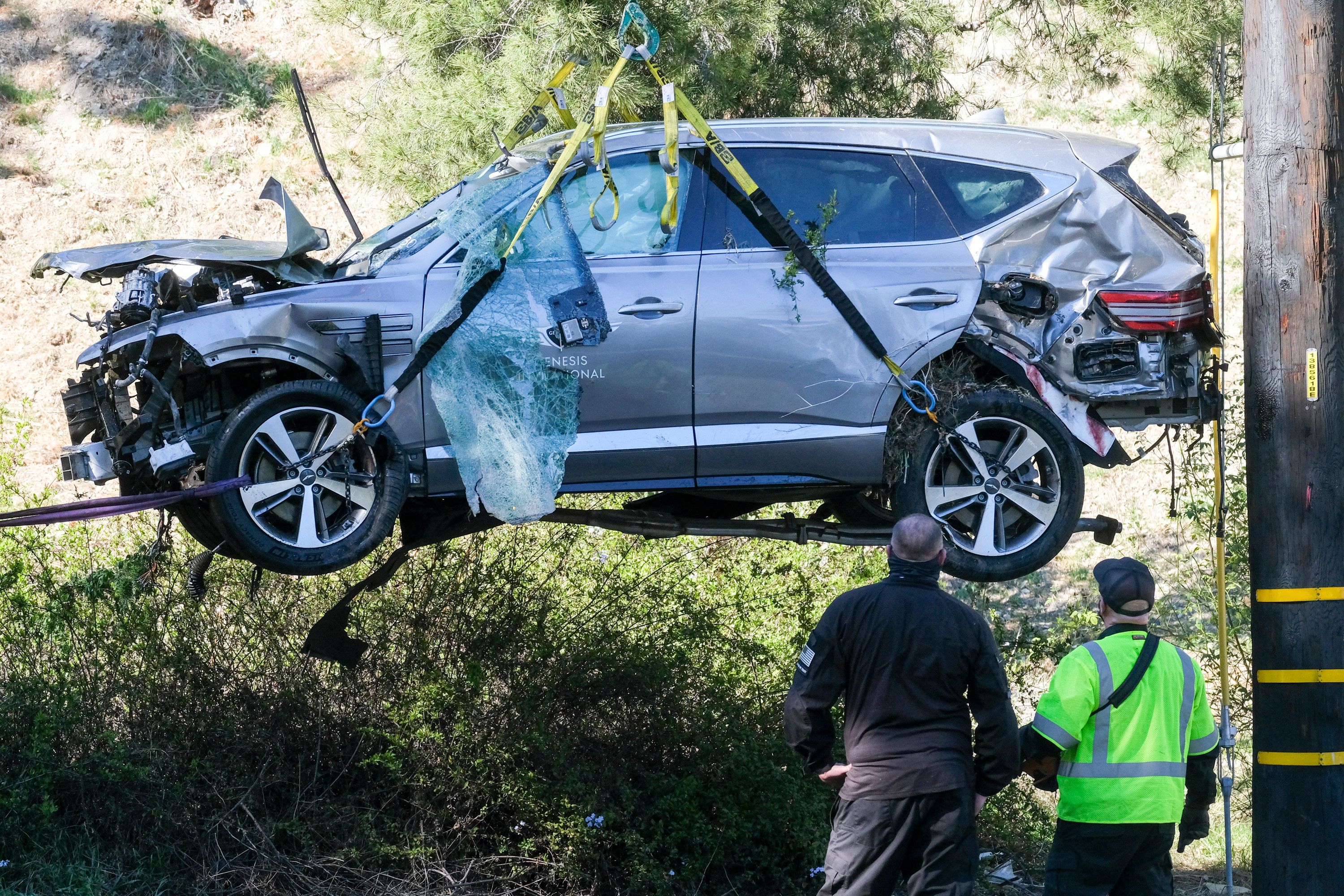 Tiger Woods' SUV crash was caused by speed and an inability to negotiate a curve, Los Angeles County sheriff says
