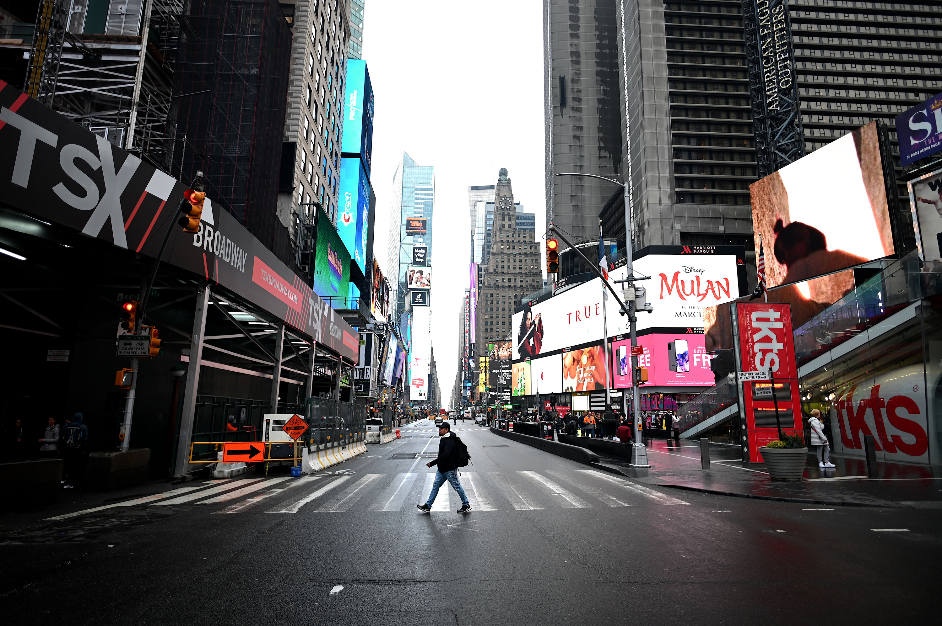 Times Square will go dark for one minute so businesses can shine light on their fight to get insurance money