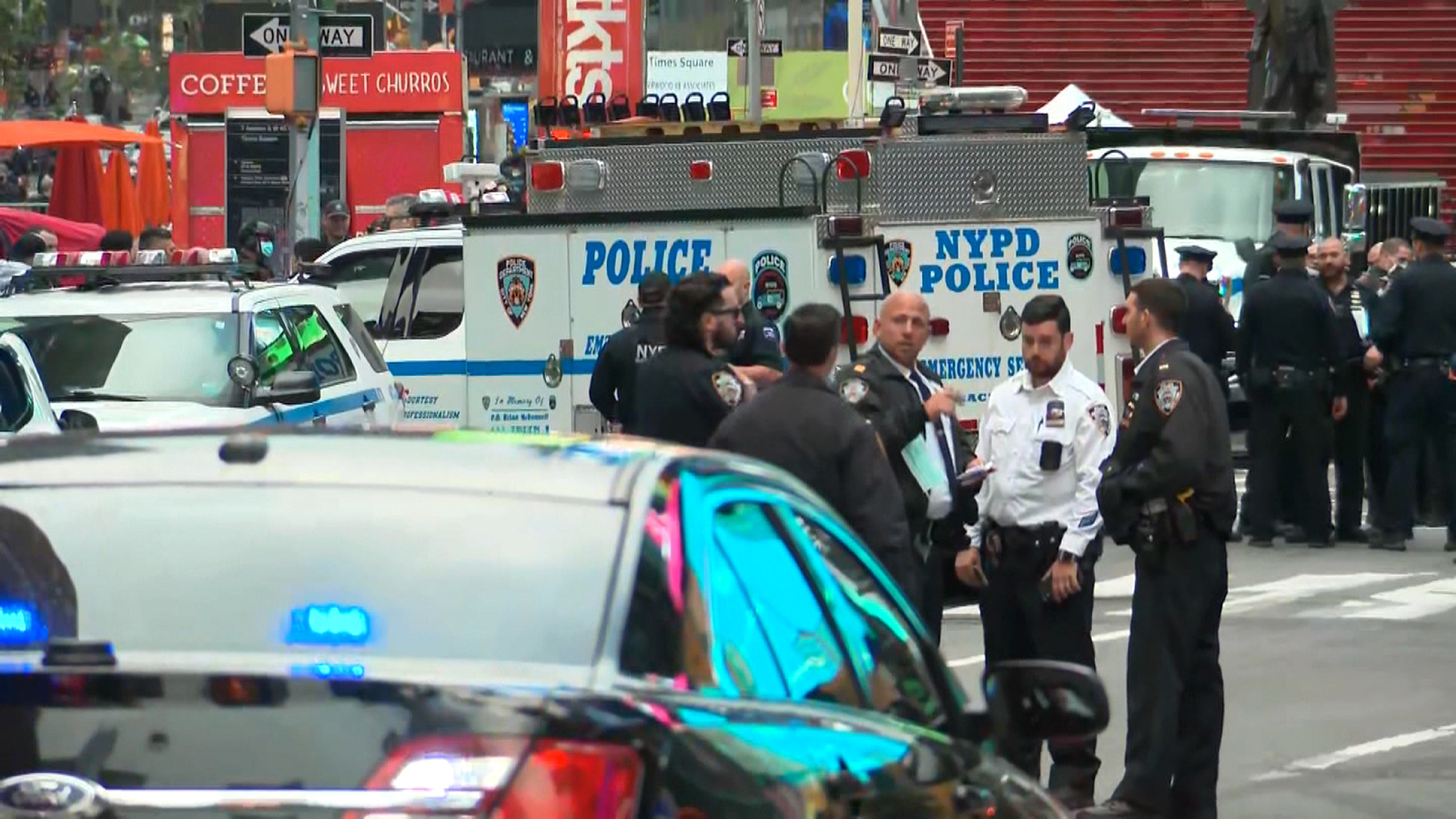 Two women and a 4-year-old girl wounded in Times Square shooting, NYPD says