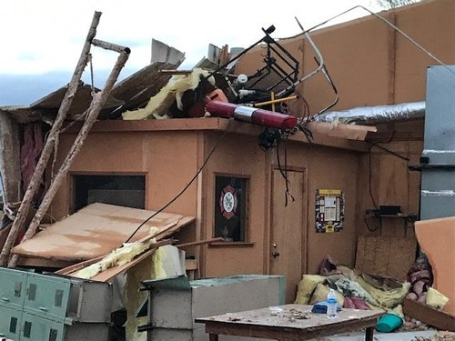 Tornado destroys only fire department in Mississippi community