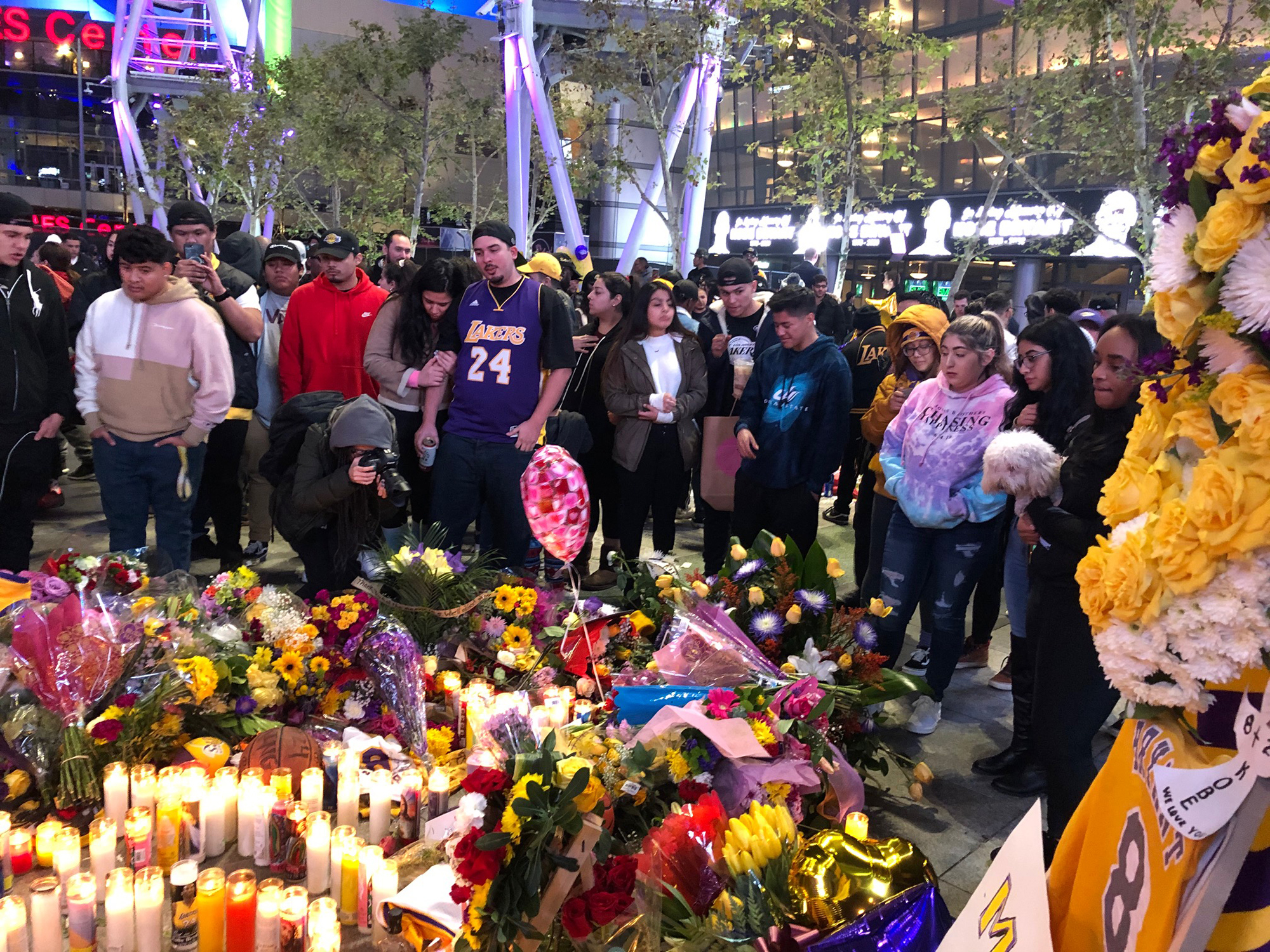 The country is paying tribute to NBA legend Kobe Bryant