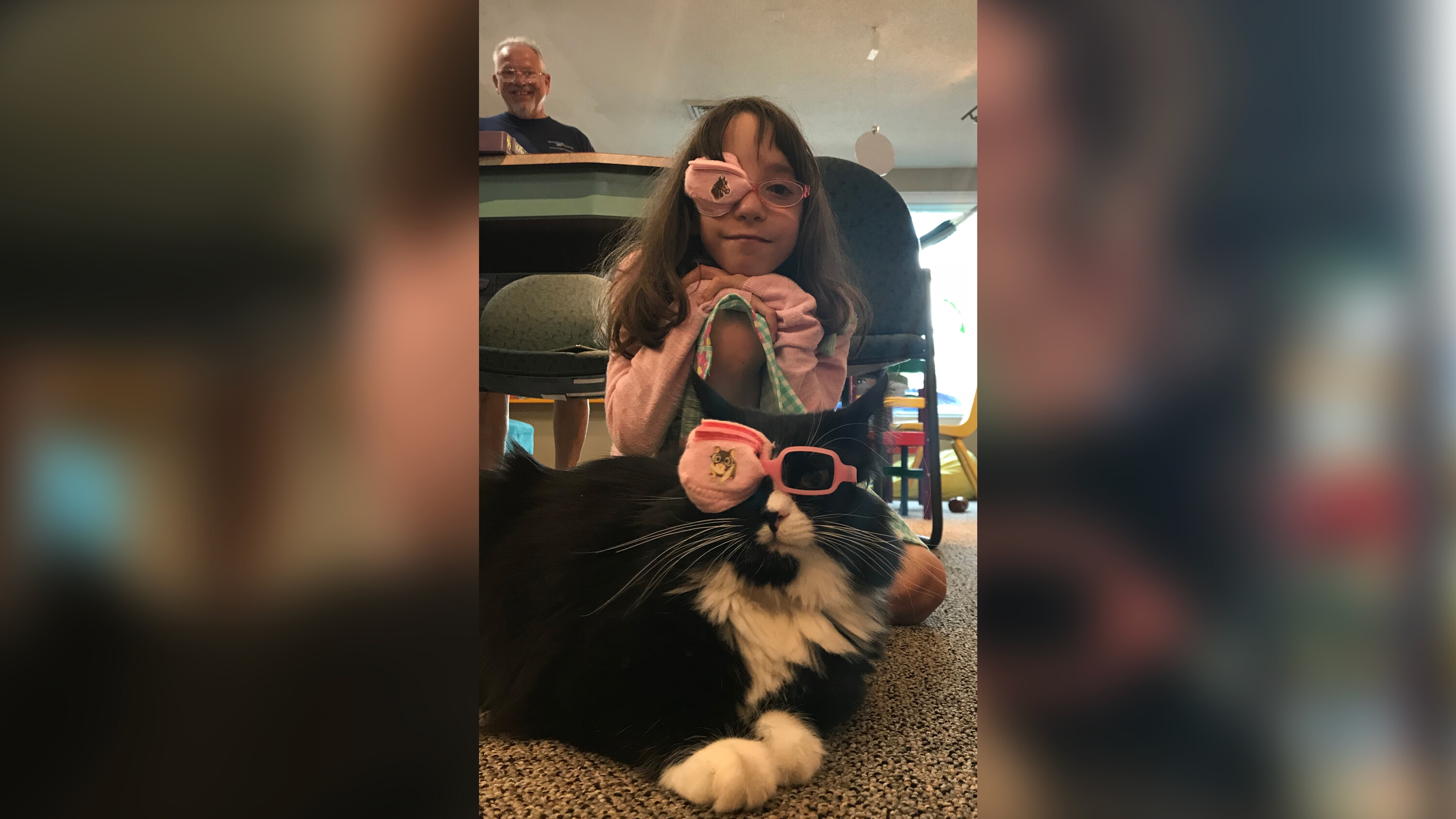 Meet Truffles, the special kitty who wears glasses to help kids feel better about wearing theirs